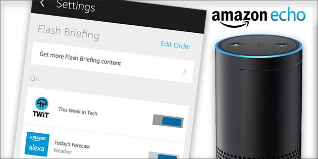 Amazon Echo Flash Briefing