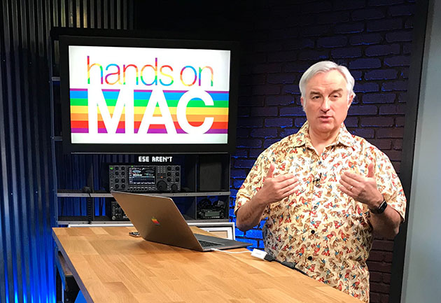 Leo Laporte records Hands-On Mac