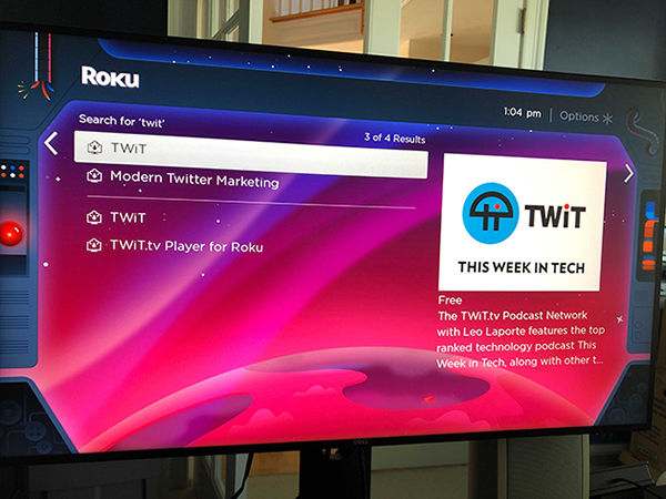 TWiT Podcast Network Official Roku App