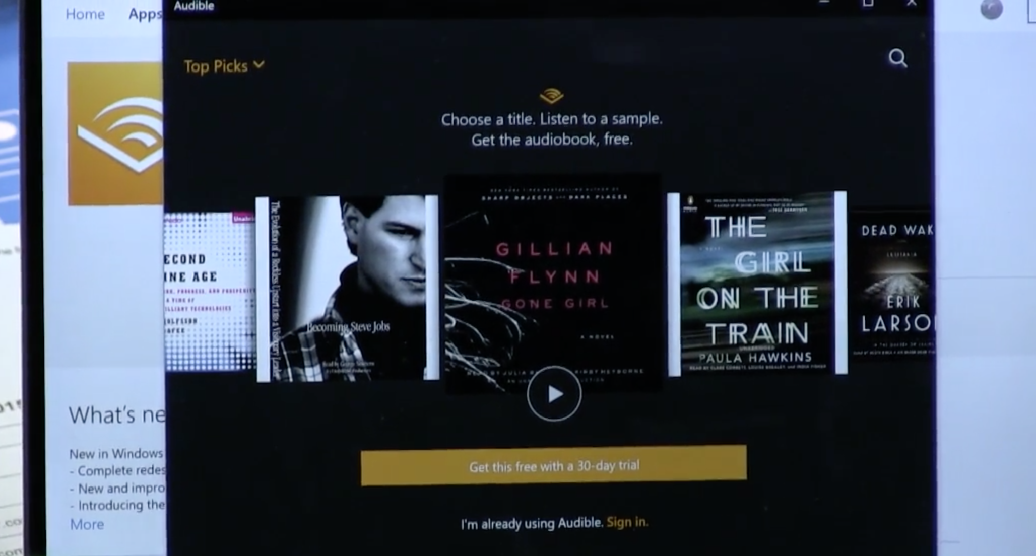 Audible for Windows 10