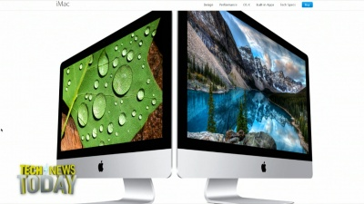 Apple updated its desktop PCs today. The new iMac all-in-ones boast better screens and better peripherals, according to the company. But the prices haven't changed.