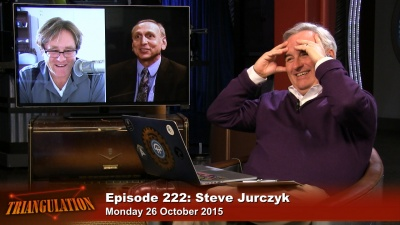 Steve Jurczyk with Marc Pelletier and Leo Laporte