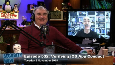 Leo Laporte and Steve Gibson on Security Now 532