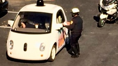 Google Self-driving car got pulled over
