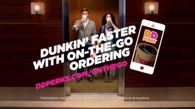 Dunkin' Donuts launches On-The-Go ordering at 124 restaurants.