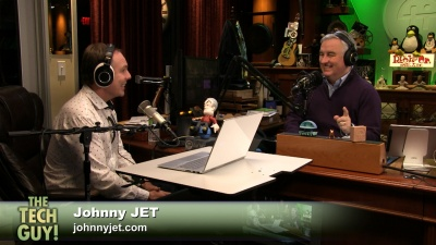 Johnny Jet and Leo Laporte