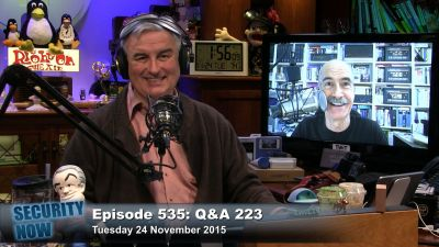Your Questions, Steves answers: Security Now 535