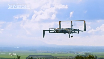 Amazon reveals a new prototype delivery drone for its Prime Air service.