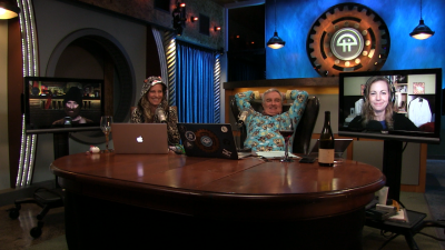 Find out why Leo Laporte and Becky Worley are rocking a onesie