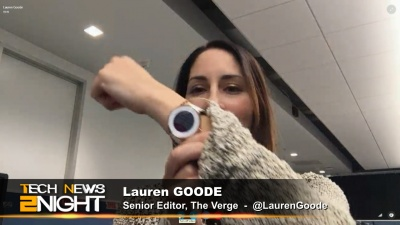 Lauren Goode and her Pebble Time Round