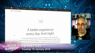 Rene Ritchie and the iOS 9.3 Apple page