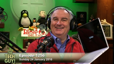 Leo Laporte with the Surface Book
