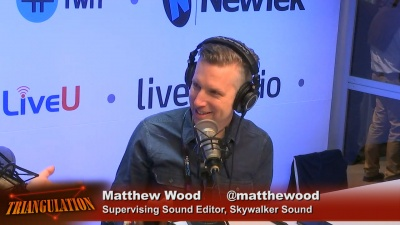 Matthew Wood is the supervising sound editor at Skywalker sound.