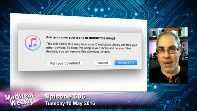 iTunes delete song dialog box and Rene Ritchie