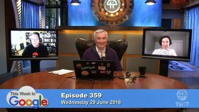 Aaron Newcomb, Leo Laporte, and Stacey Higginbotham