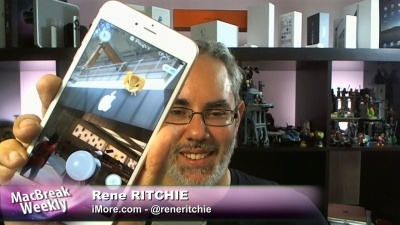 Rene Ritchie with Pokemon Go at an Apple Store