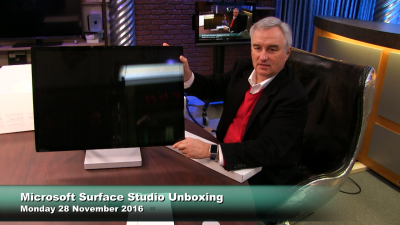 Leo Laporte and the Microsoft Surface Studio