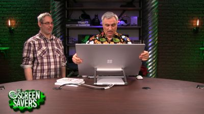 Leo Laporte and Rene Ritchie review Microsoft's new all-in-one desktop computer, the Surface Studio.