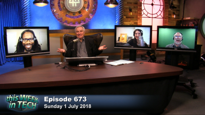 Wesley Faulkner, Leo Laporte, Christina Warren, and Dwight Silverman
