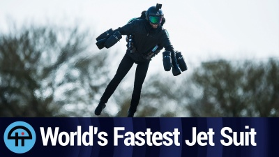 Dr. Angelo Grubisic flys with Gravity's $440K Iron Man-style jet suit.