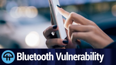 A vulnerability that could expose a device's data via Bluetooth.