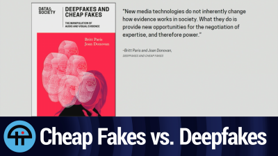 Britt Paris explains the difference between cheap and deep fakes.