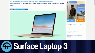 "Is the new Surface Laptop 3 15"" lappable? Let's ask Mary Jo Foley, the queen of lappability. Is it Thunderboltable? Let's ask Paul Thurrott, the king of Thunderboltabilty."