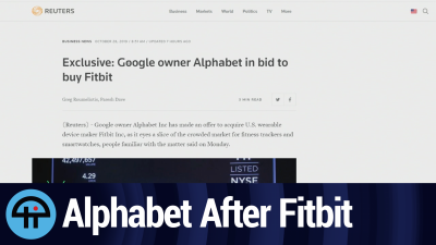 Alphabet Wants to Buy Fitbit