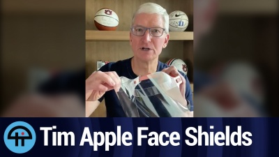 Apple starts producing 1 million+ face shields per week for healthcare workers.