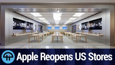Apple reopens several stores in states that do not have stay-at-home orders.
