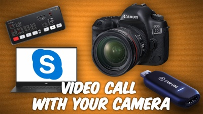 WFH? Turn your camera/camcorder into a webcam.