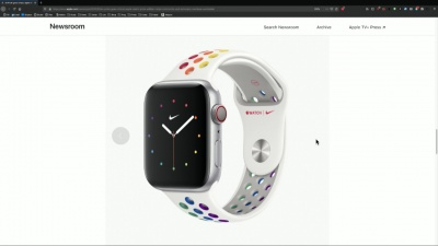 Apple Watch Nike Pride Edition Sport Band Looks Gorgeous