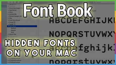 12 Hidden Free Fonts in Catalina