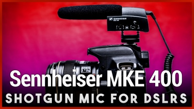 Up your vlogging game with the camera-mounted shotgun microphone Sennheiser MKE 400.