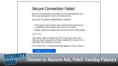 Chrome vs Abusive Ads, Patch Tuesday Palooza