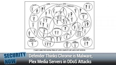 Defender Thinks Chrome is Malware, Plex Media Servers in DDoS Attacks
