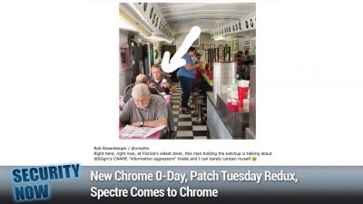 New Chrome 0-Day, Patch Tuesday Redux, Spectre Comes to Chrome