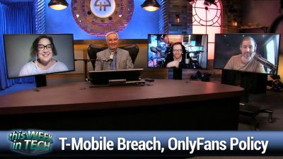 T-Mobile hack, OnlyFans policy change, Cloudflare DDoS, Tesla's humanoid robot