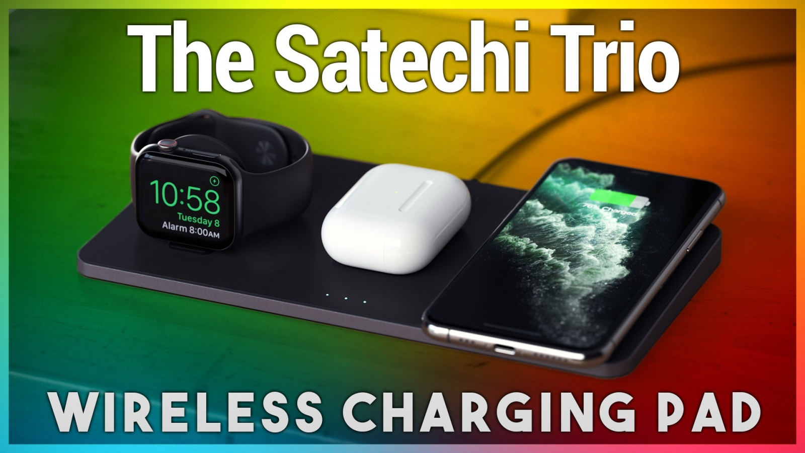 Want a Way to Charge Your iPhone, Apple Watch, and AirPods All at Once? The Satechi Trio Wireless Charging Pad Does That!