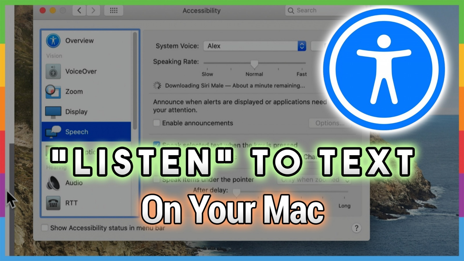 Getting Your Mac to Read to You