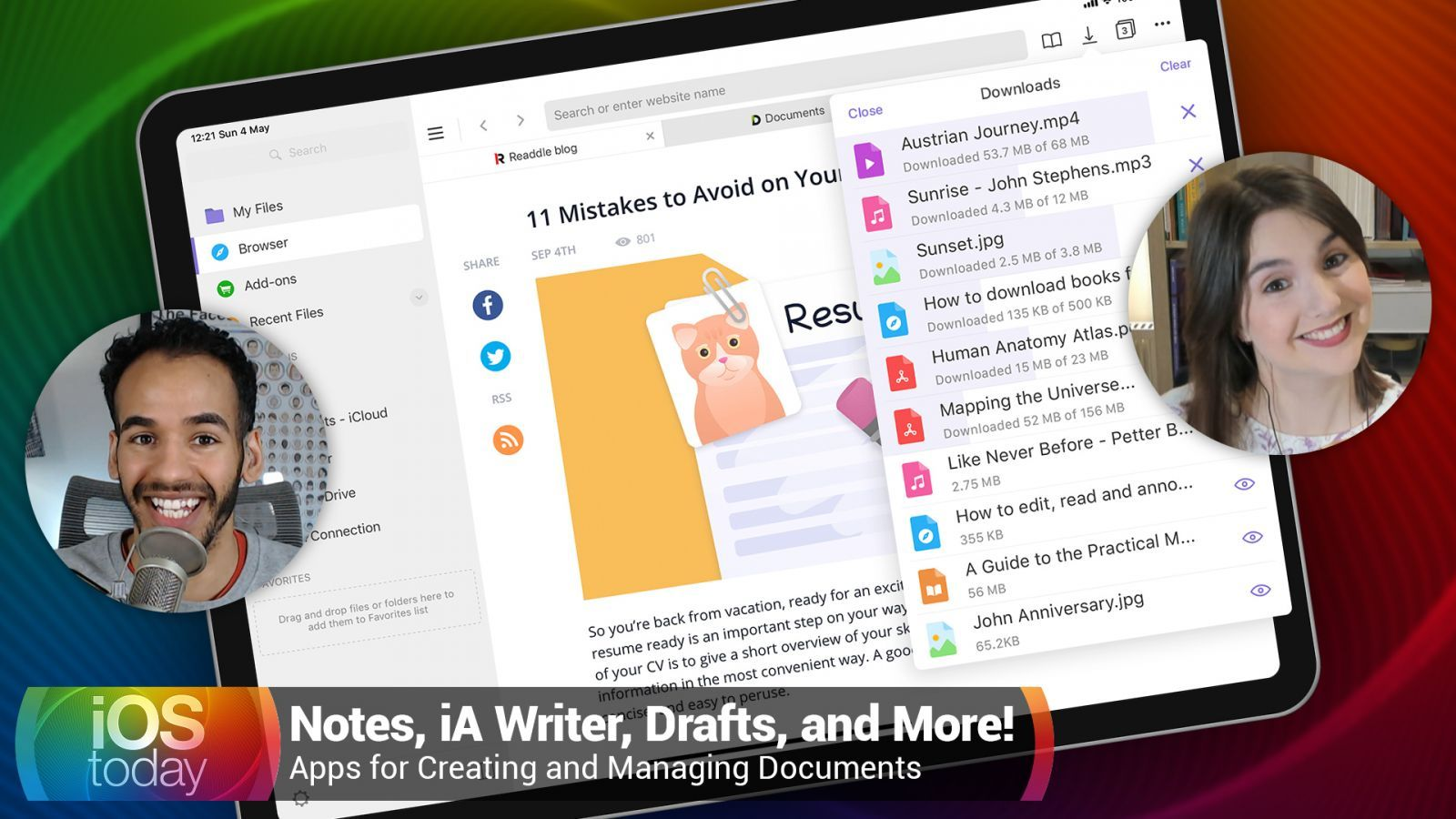 Apps for Creating and Managing Documents - Notes, iA Writer, Drafts, and More!